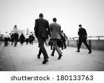 businessmen on their way to... | Shutterstock . vector #180133763
