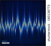 digital equalizer. vector... | Shutterstock .eps vector #180138773