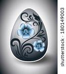 easter egg. vector illustration. | Shutterstock .eps vector #180149003
