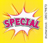 special comic speech bubble | Shutterstock .eps vector #180179873