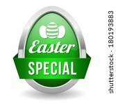 green easter special button... | Shutterstock .eps vector #180193883