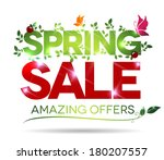 spring sale  amazing offers... | Shutterstock .eps vector #180207557
