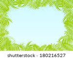 exotic forest jungle leaves ... | Shutterstock .eps vector #180216527