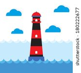 lighthouse vector illustration | Shutterstock .eps vector #180222677