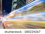 traffic in hong kong at night | Shutterstock . vector #180224267