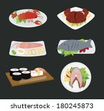 sea food design over gray ... | Shutterstock .eps vector #180245873