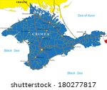 crimea map | Shutterstock .eps vector #180277817