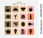 set of food icons | Shutterstock .eps vector #180285353