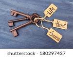 keys to happiness  conceptual