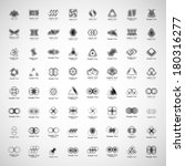 unusual icons set   isolated on ... | Shutterstock .eps vector #180316277