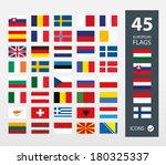 european flags | Shutterstock .eps vector #180325337