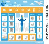 safety on board | Shutterstock .eps vector #180331487