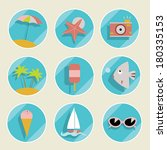 set of summer elements. vector... | Shutterstock .eps vector #180335153