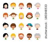 vector character set | Shutterstock .eps vector #180348533
