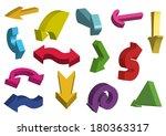 3d arrows. raster version   Shutterstock . vector #180363317