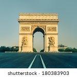 arc de triumph in paris  france ... | Shutterstock . vector #180383903