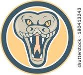 illustration of a rattle snake... | Shutterstock .eps vector #180413243