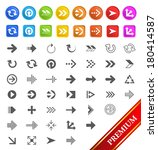 set of arrow icons and buttons. | Shutterstock .eps vector #180414587
