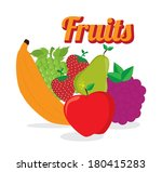 fruits design over white... | Shutterstock .eps vector #180415283