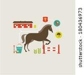 horse icons | Shutterstock .eps vector #180436973