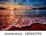 Colorful Seaside Beach Sunrise...