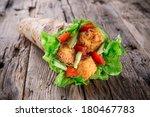 chicken strips in a tortilla...