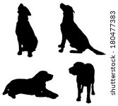 vector silhouette of a dog on... | Shutterstock .eps vector #180477383