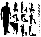 vector silhouette of a people... | Shutterstock .eps vector #180478043
