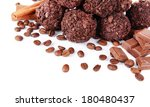 delicious chocolates close up | Shutterstock . vector #180480437