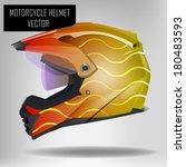 Motorcycle helmet with vinyl