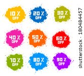 colorful discount labels ... | Shutterstock . vector #180484457