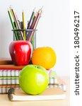 back to school   note book  ... | Shutterstock . vector #180496217