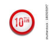 10th circular vector red web... | Shutterstock .eps vector #180505097
