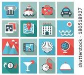 travel icons | Shutterstock .eps vector #180518927