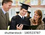 Graduation  Male Student Stand...