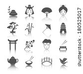 japanese culture icons set of... | Shutterstock .eps vector #180525017