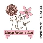 Happy Mothers Day Card  Vector...