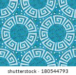 seamless mosaic pattern    blue ... | Shutterstock .eps vector #180544793
