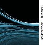 blue green fibers in gentle... | Shutterstock . vector #18055048