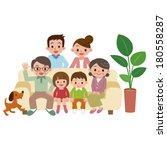 happy family | Shutterstock .eps vector #180558287