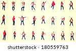 teen morn dancer  isolated on... | Shutterstock . vector #180559763