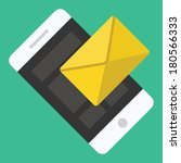 vector smartphone email or sms... | Shutterstock .eps vector #180566333