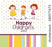 abstract children's day... | Shutterstock .eps vector #180577673