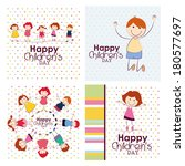 abstract children's day... | Shutterstock .eps vector #180577697
