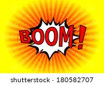 boom    comic speech bubble ... | Shutterstock .eps vector #180582707