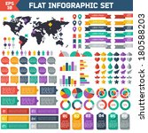 flat infographic elements set.... | Shutterstock .eps vector #180588203