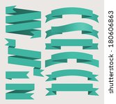 vector set of business ribbons... | Shutterstock .eps vector #180606863