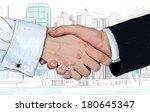 Handshake And Sketch Business...