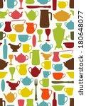 mid century tableware... | Shutterstock .eps vector #180648077