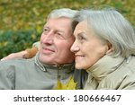 portrait of a old couple... | Shutterstock . vector #180666467